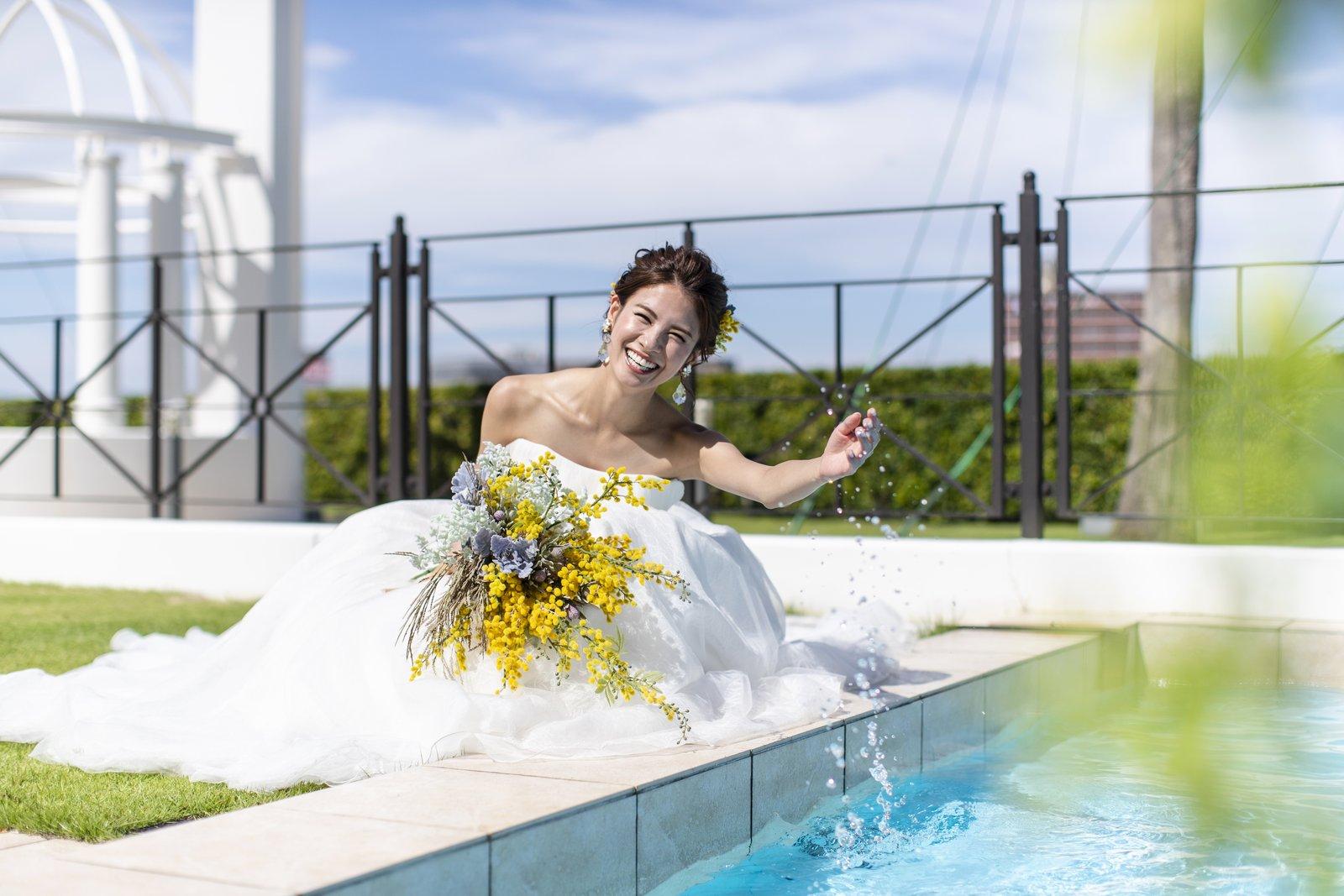 徳島県の結婚式場ブランアンジュのプライベートガーデン
