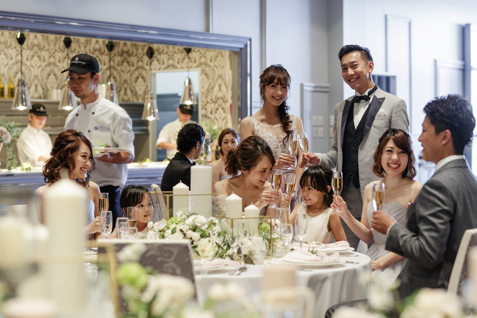 徳島県の結婚式場ブランアンジュのファミリーフォト