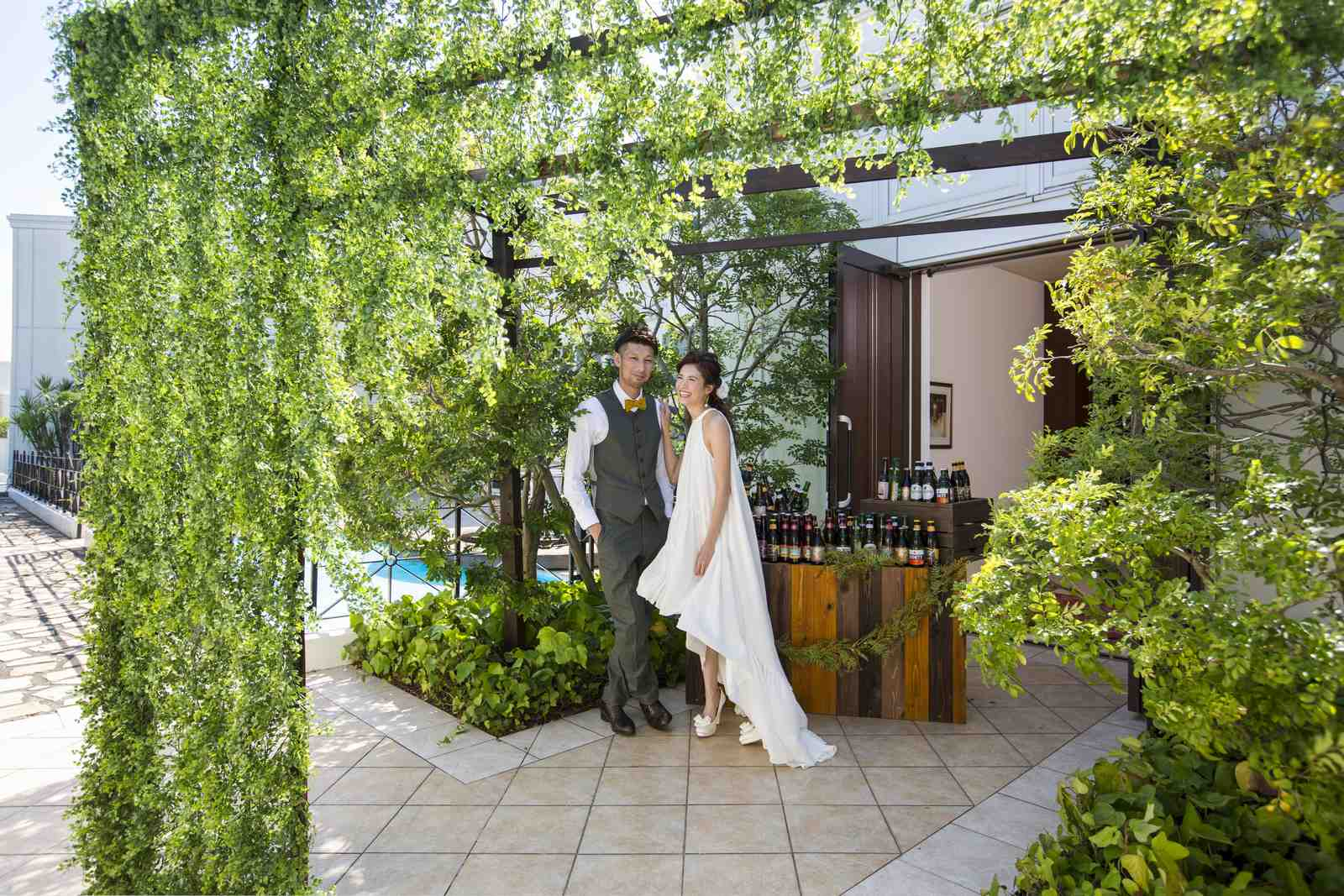 徳島県の結婚式場ブランアンジュの前写しショット