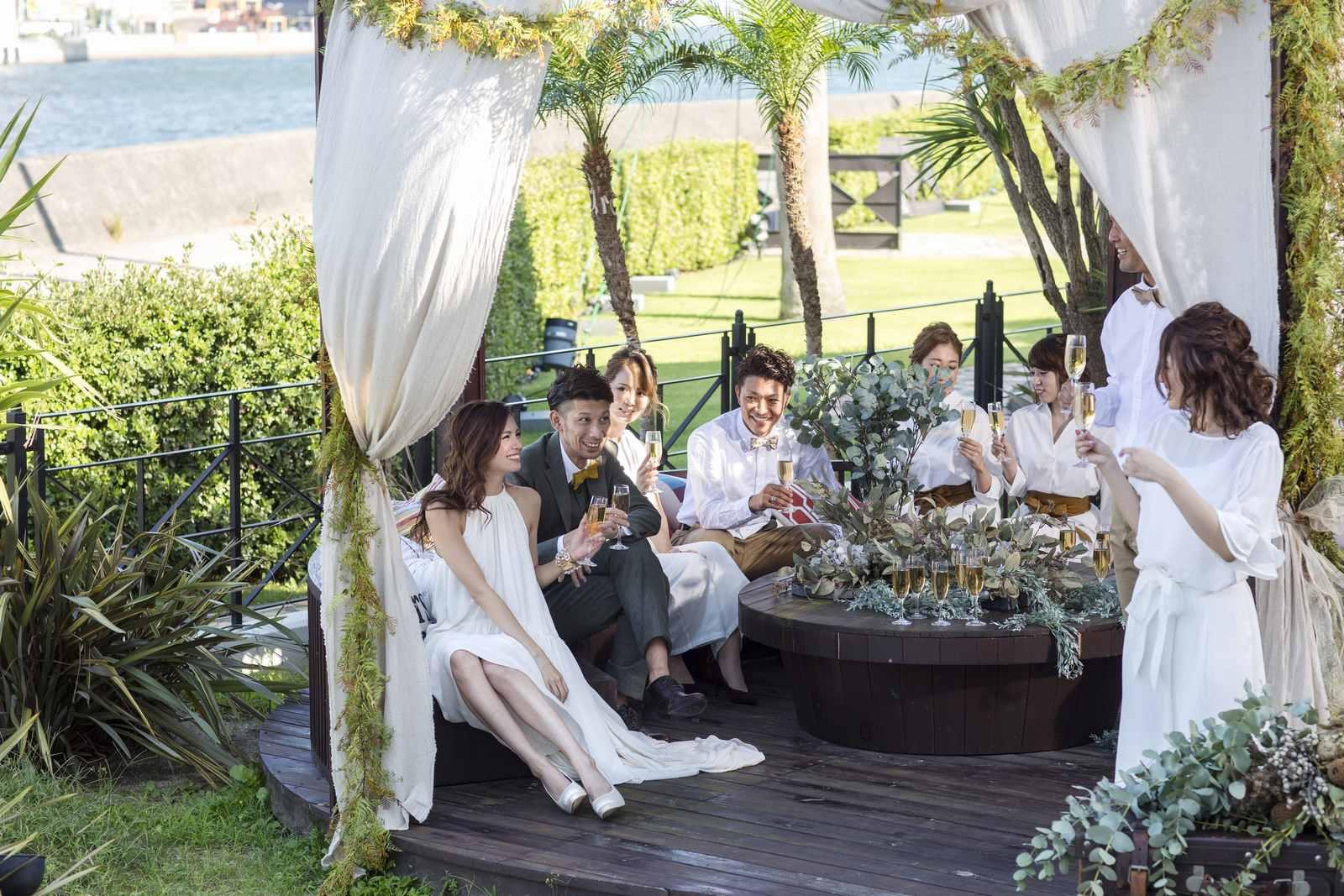 徳島県の結婚式場ブランアンジュのガーデンパーティー