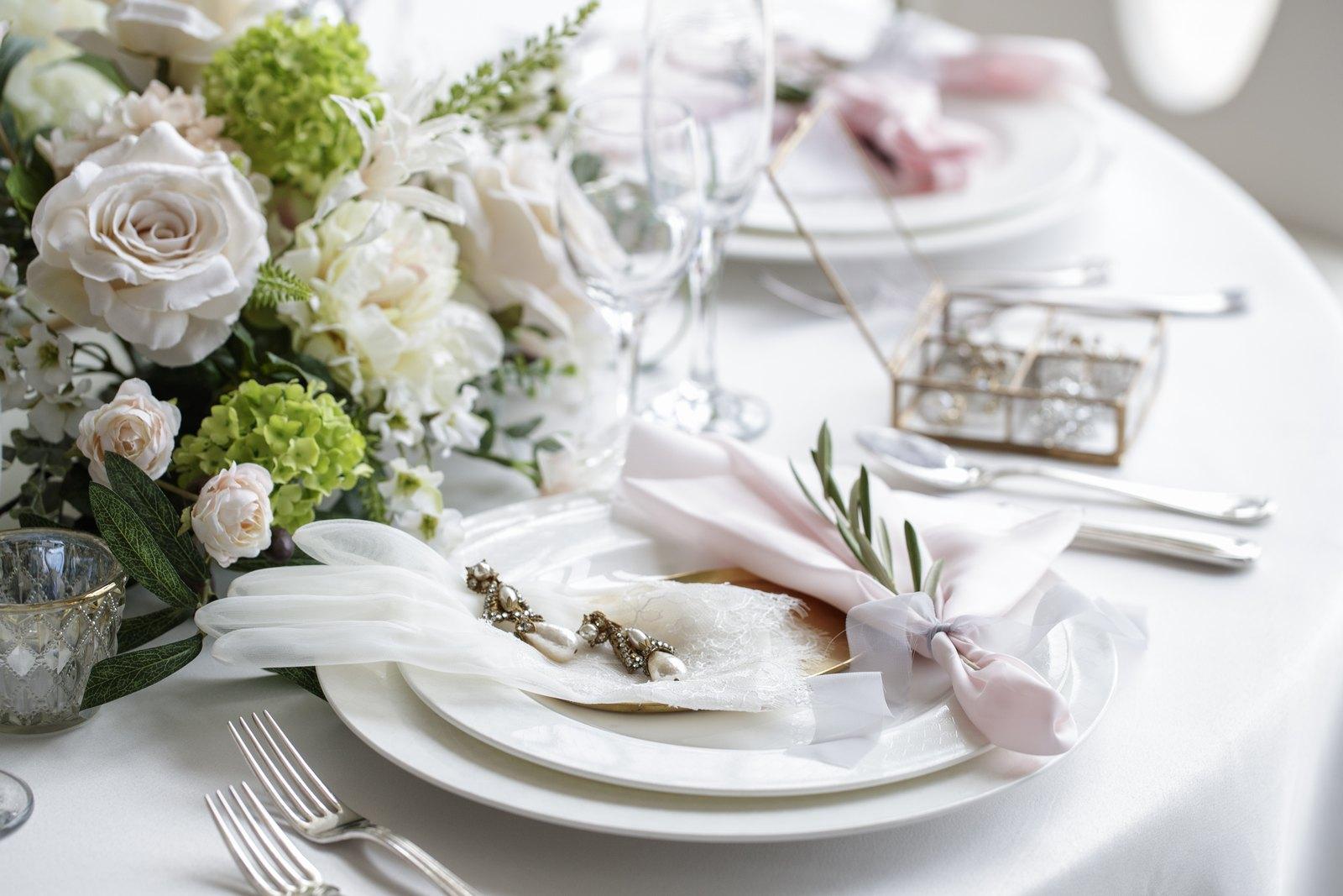 徳島県の結婚式場ブランアンジュのテーブルコーディネート