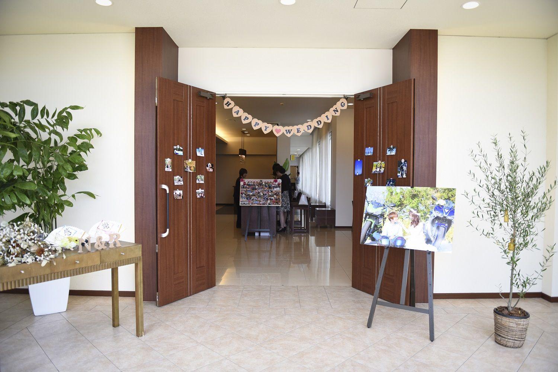 徳島市の結婚式場ブランアンジュでウエルカムスペースの装飾はお二人様らしく