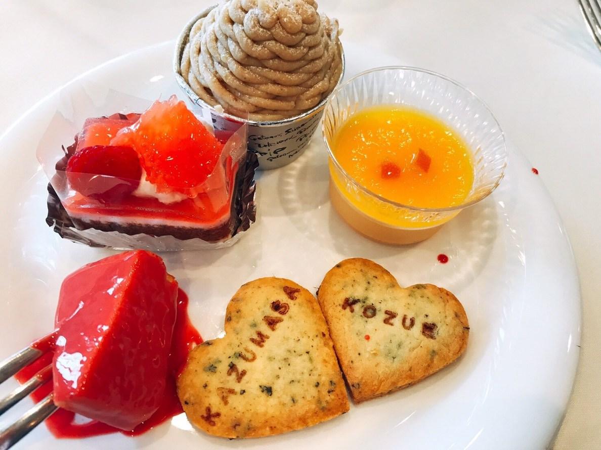 徳島市の結婚式場ブランアンジュでデザートビュッフェのデザートに阿波番茶を入れたオリジナル