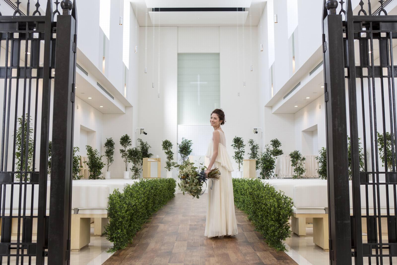 徳島県の結婚式場ブランアンジュのホワイトチャペル