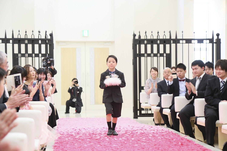 徳島市の結婚式場ブランアンジュでリングボーイは新郎新婦様のゲスト中からセレクト