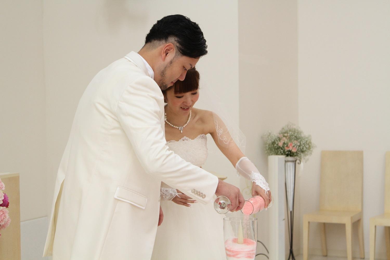 徳島市の結婚式場ブランアンジュでチャペル演出はサンドセレモニー