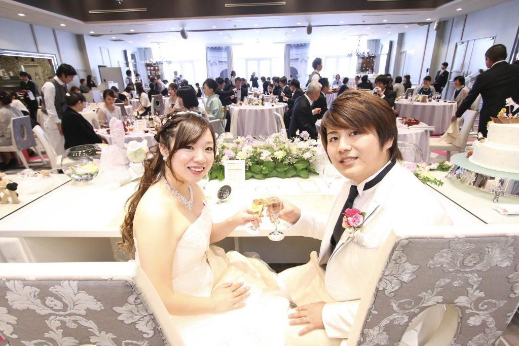 徳島市の結婚式場ブランアンジュのパーティ会場もお気に入りのラプンツェルカラー