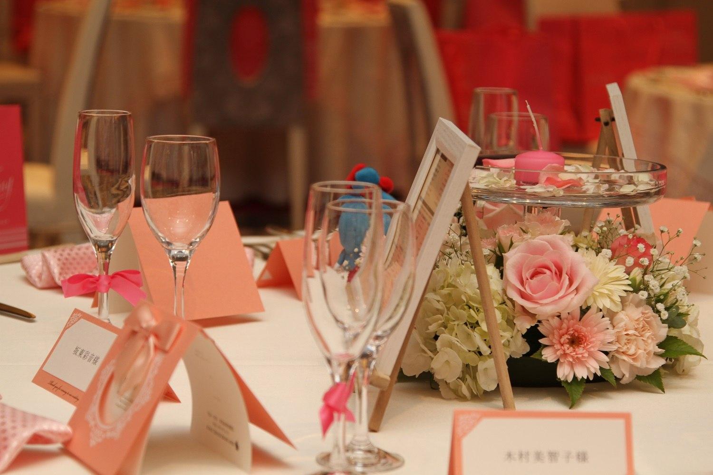 徳島市の結婚式場ブランアンジュで可愛いイメージのピンクのコーディネート