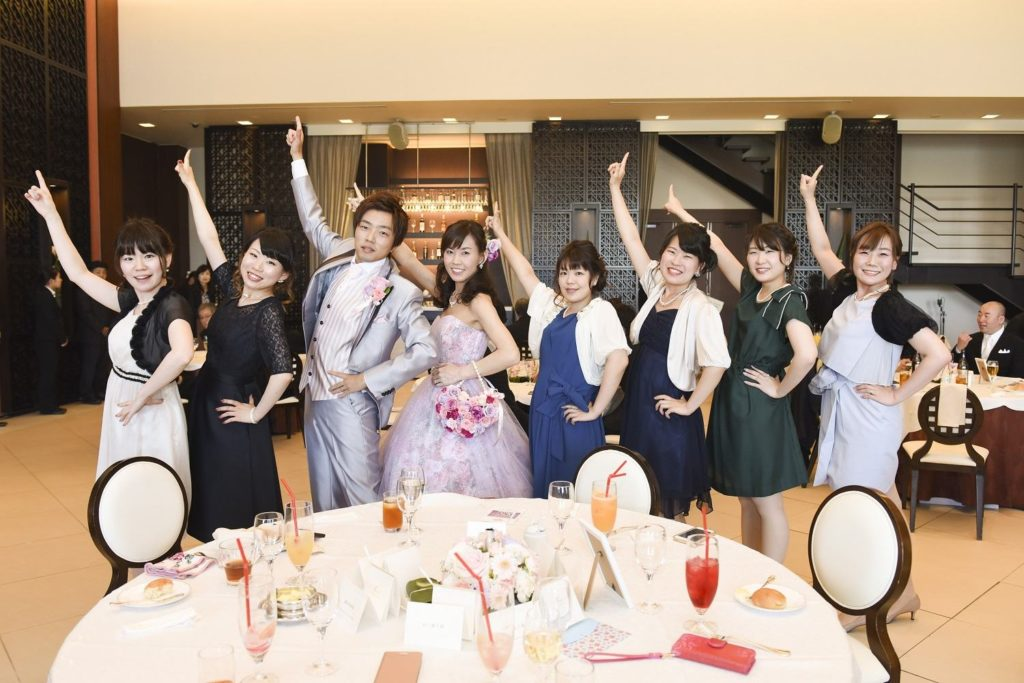 徳島市の結婚式場ブランアンジュで披露宴でのフォトセッション