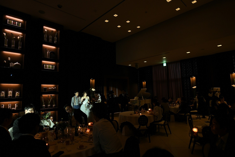 徳島市の結婚式場ブランアンジュでキャンドルリレーの演出