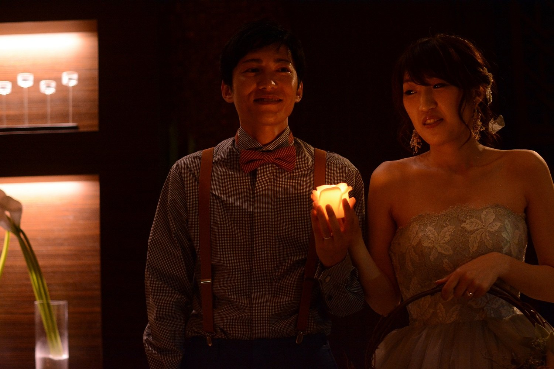 徳島市の結婚式場ブランアンジュで披露宴で人気のキャンドルに願いをこめて