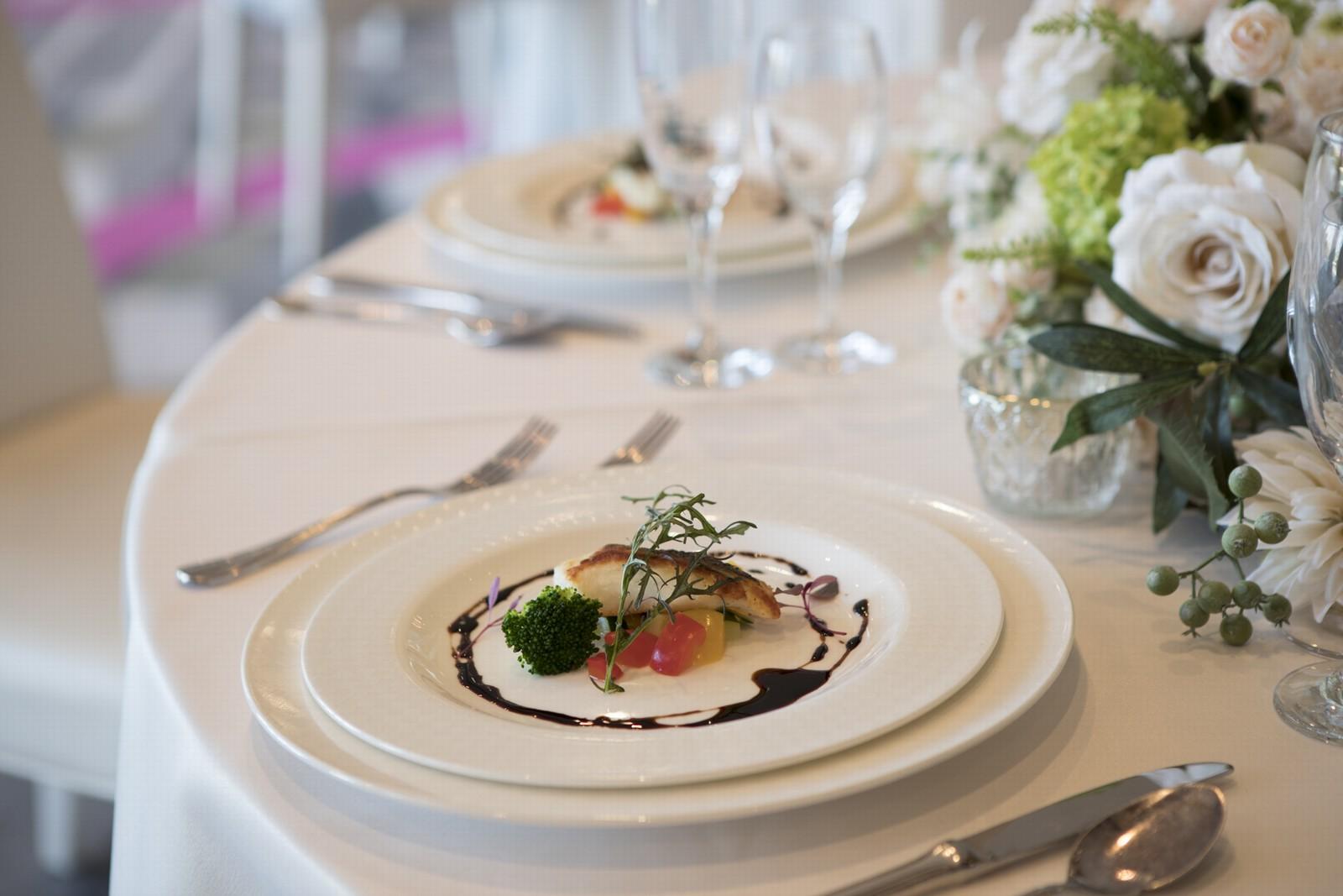 徳島県の結婚式場ブランアンジュのコース料理