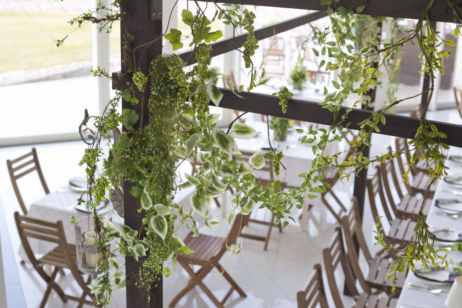 徳島の結婚式場ブランアンジュのレストラン装飾