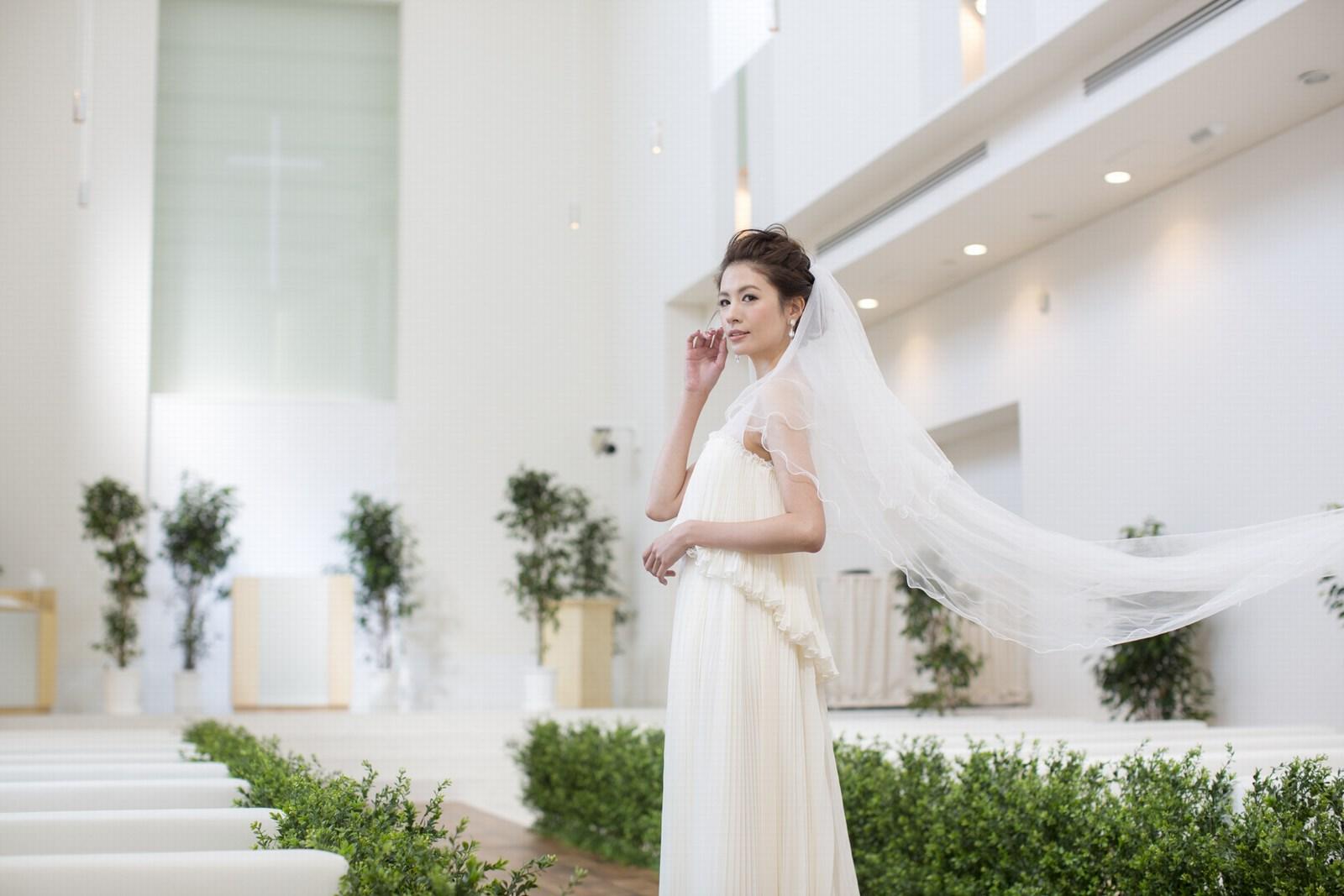 徳島県の結婚式場ブランアンジュのウエディングベール