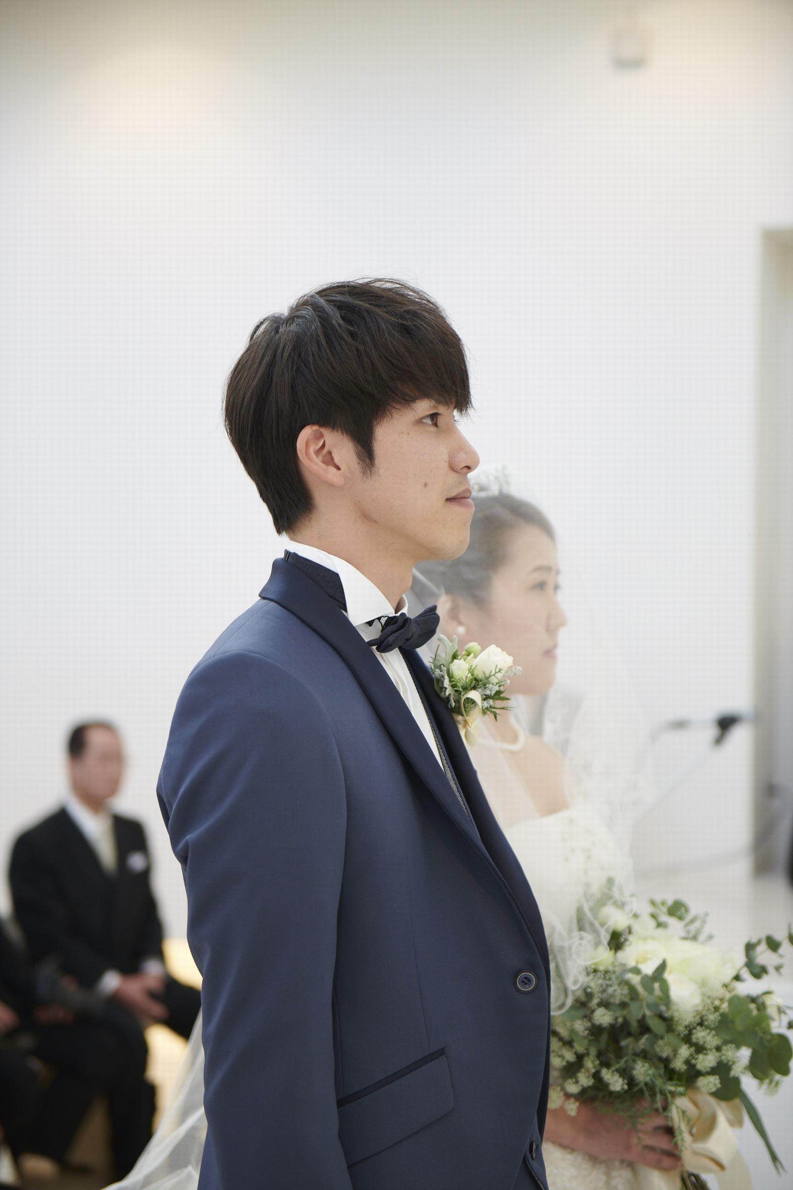 徳島県の結婚式場ブランアンジュのチャペルでのセレモニー