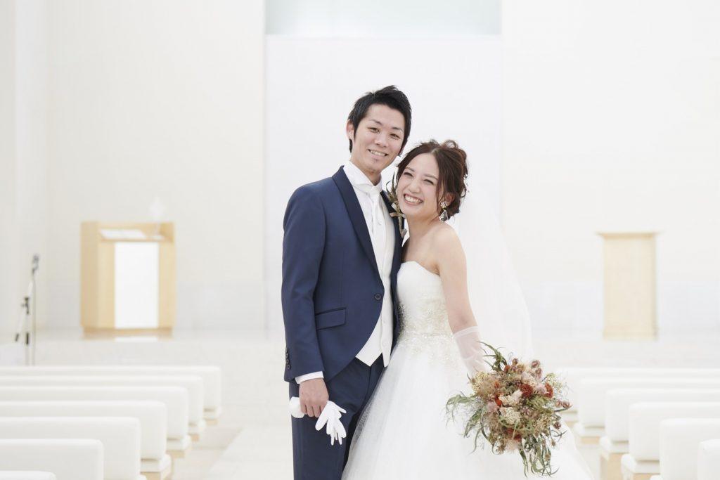 徳島県の結婚式場ブランアンジュのチャペルでのショット