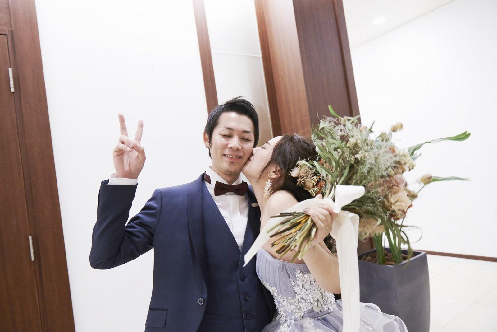 徳島県の結婚式場ブランアンジュの新郎新婦
