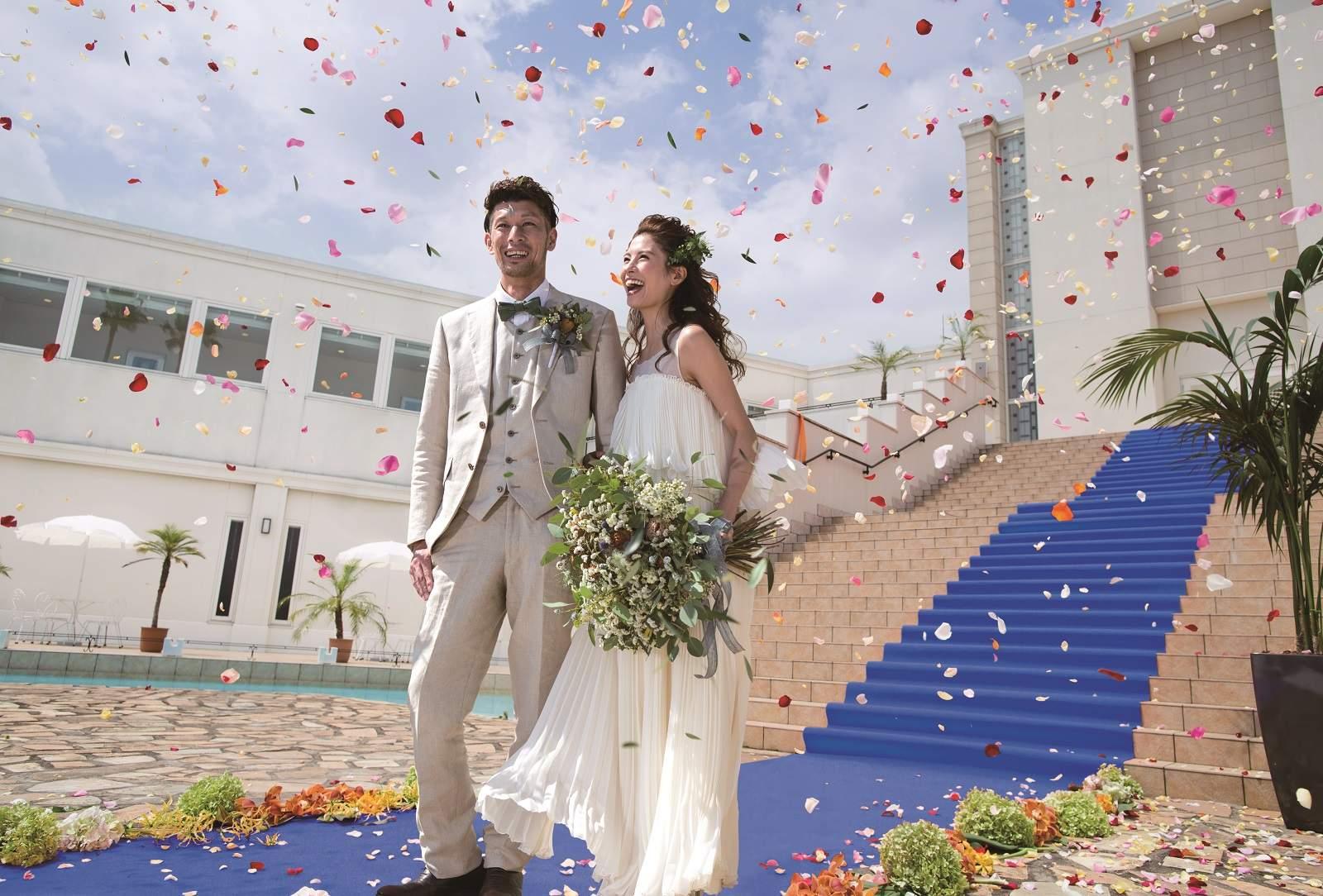 徳島の結婚式場ブランアンジュの大階段