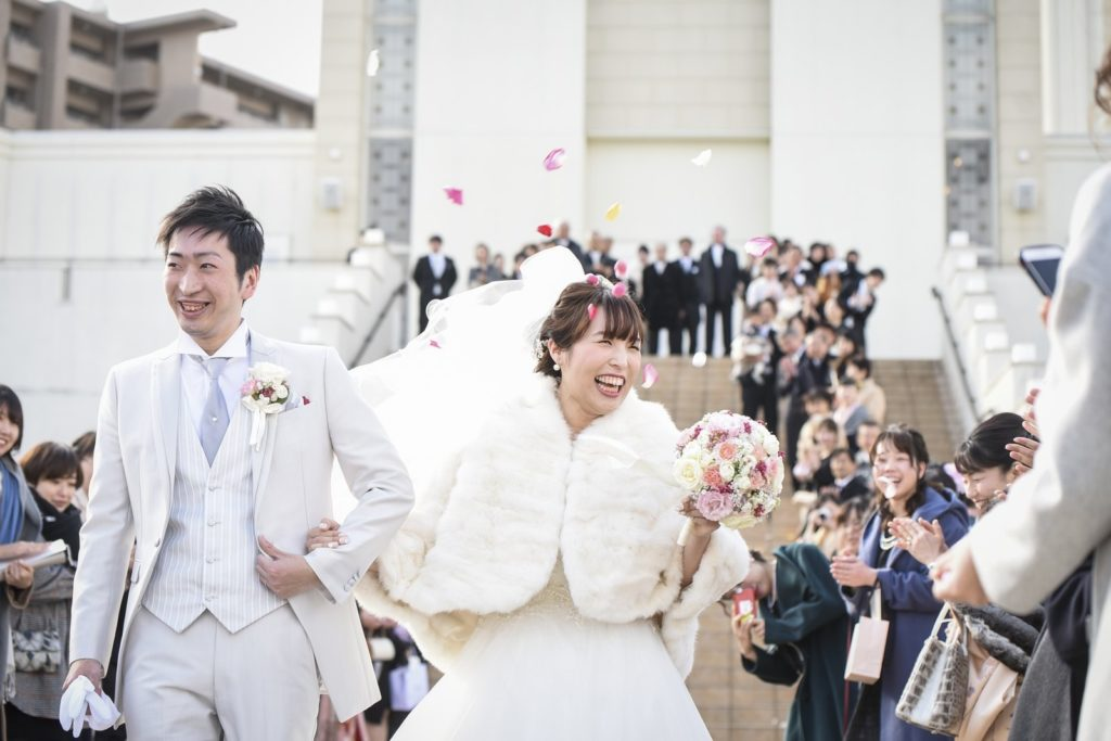 徳島市の結婚式場ブランアンジュでゲストと共に楽しむウエディング