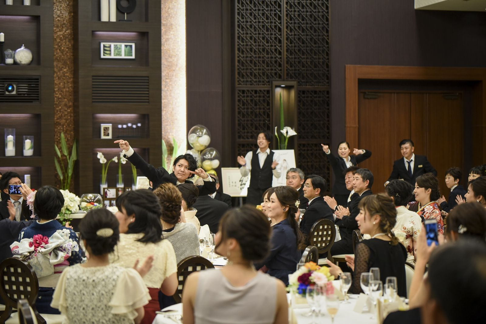 徳島市の結婚式場ブランアンジュで披露宴はサプライズスタート