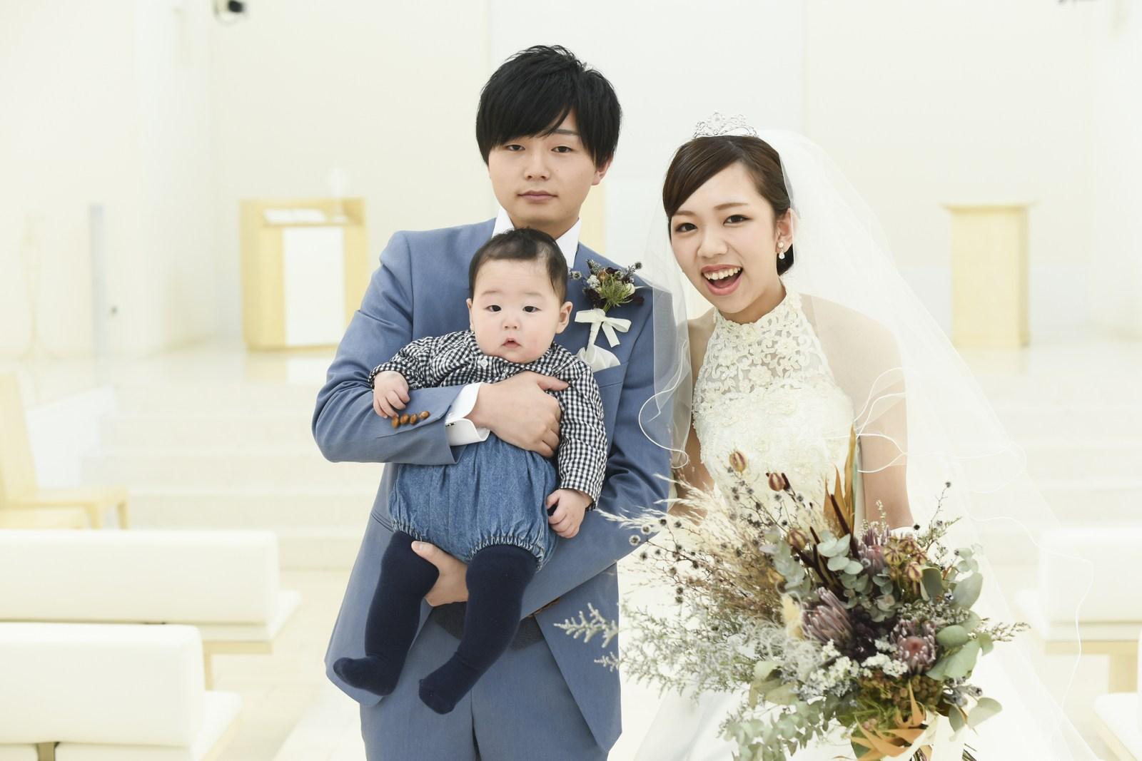 徳島市の結婚式場ブランアンジュで挙式をされた新郎新婦さま