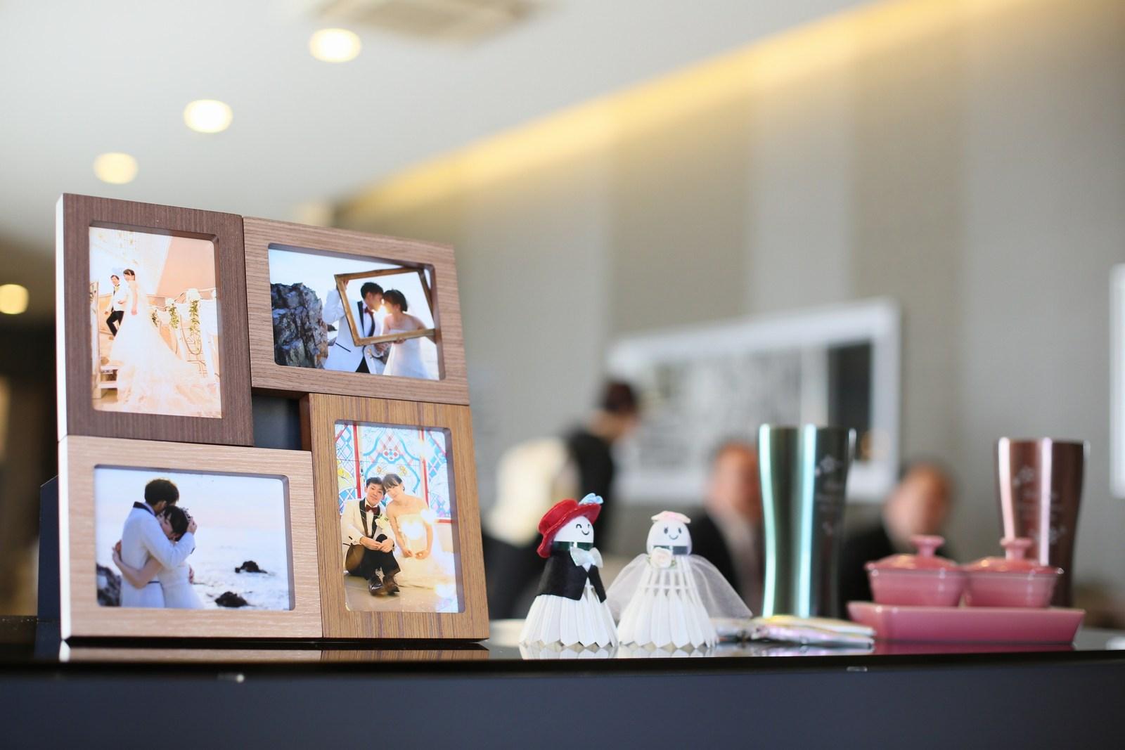 徳島市の結婚式場ブランアンジュで新郎新婦様のらしさ溢れる受付グッズ