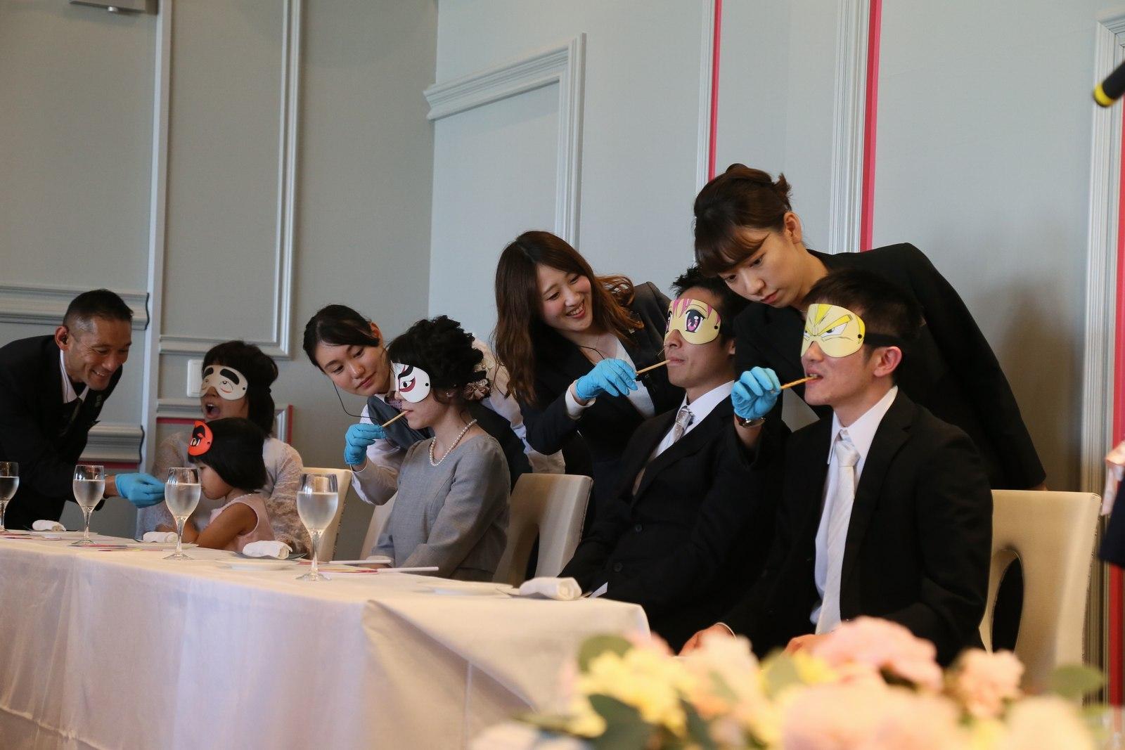 徳島市の結婚式場ブランアンジュで披露宴でのゲスト参加型イベント