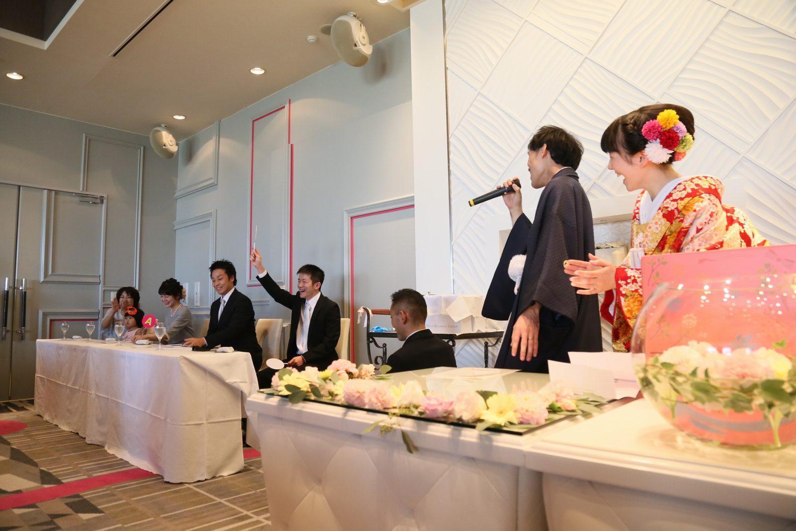 徳島市の結婚式場ブランアンジュで披露宴でのゲスト参加のフリータイム