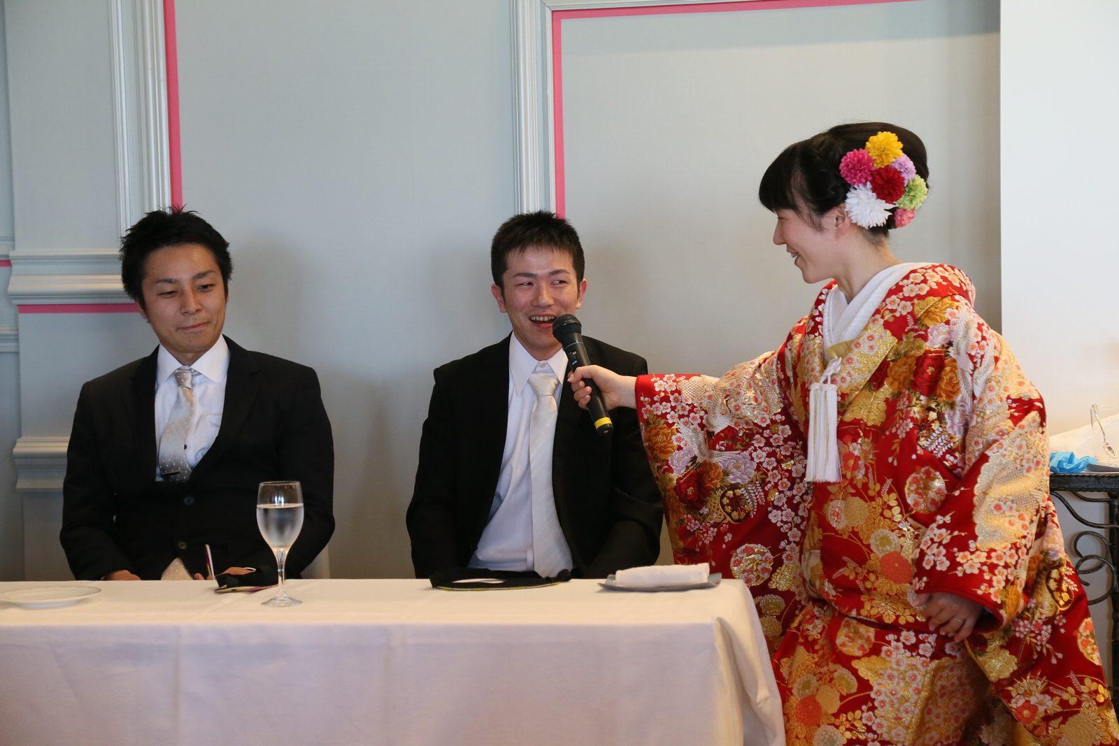 徳島市の結婚式場ブランアンジュで披露宴でのゲスト参加の余興のお時間