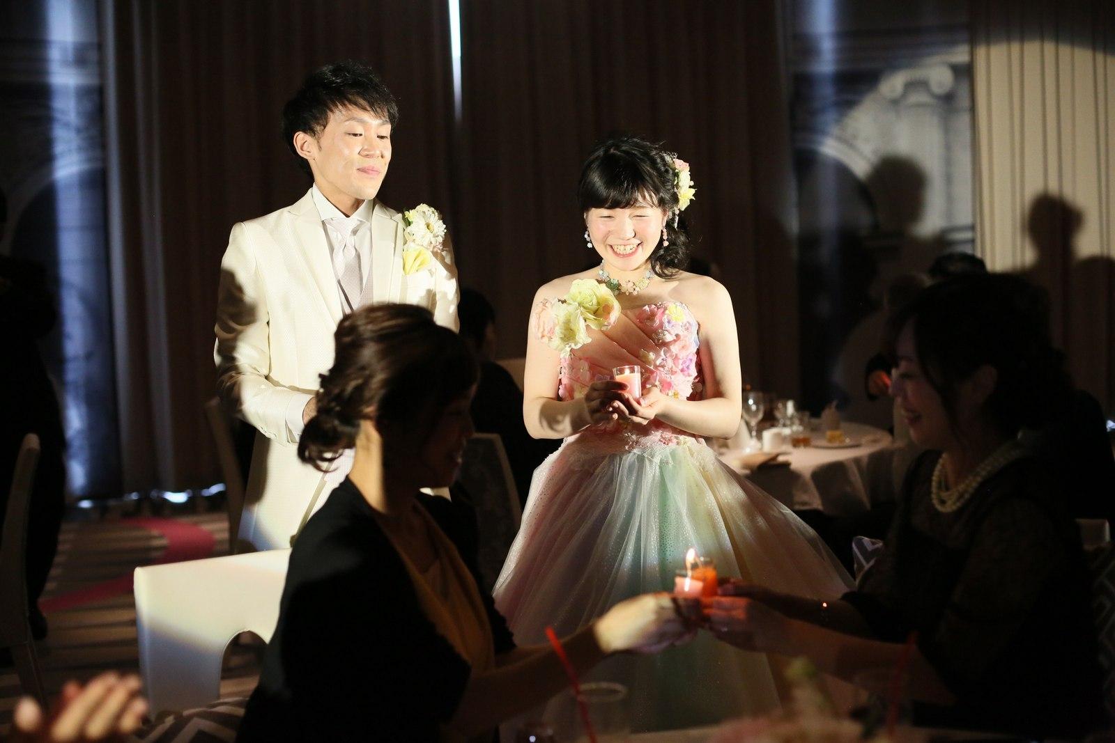 徳島市の結婚式場ブランアンジュで披露宴での感動のキャンドル演出