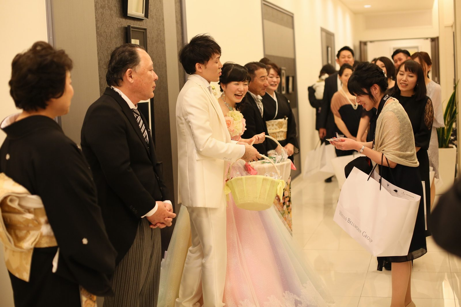 徳島市の結婚式場ブランアンジュで披露宴後にゲスト全員へプチギフトをプレゼント