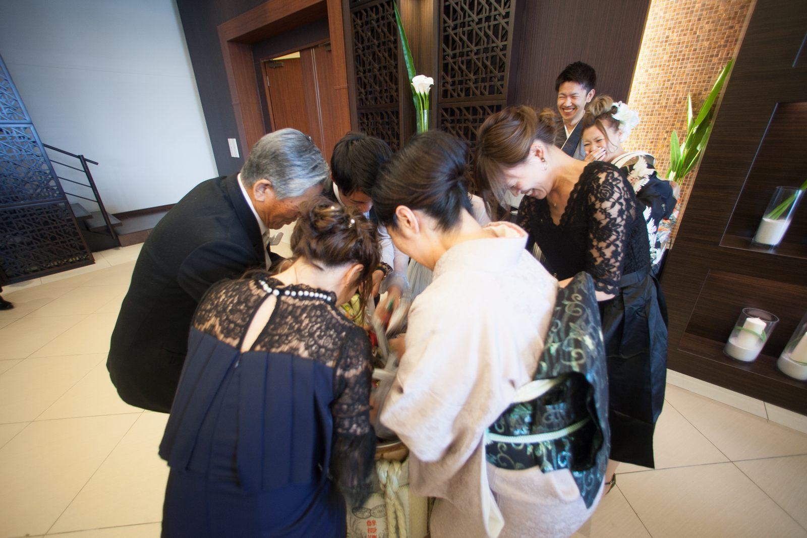 徳島市の結婚式場ブランアンジュで鏡開きの中身はお菓子