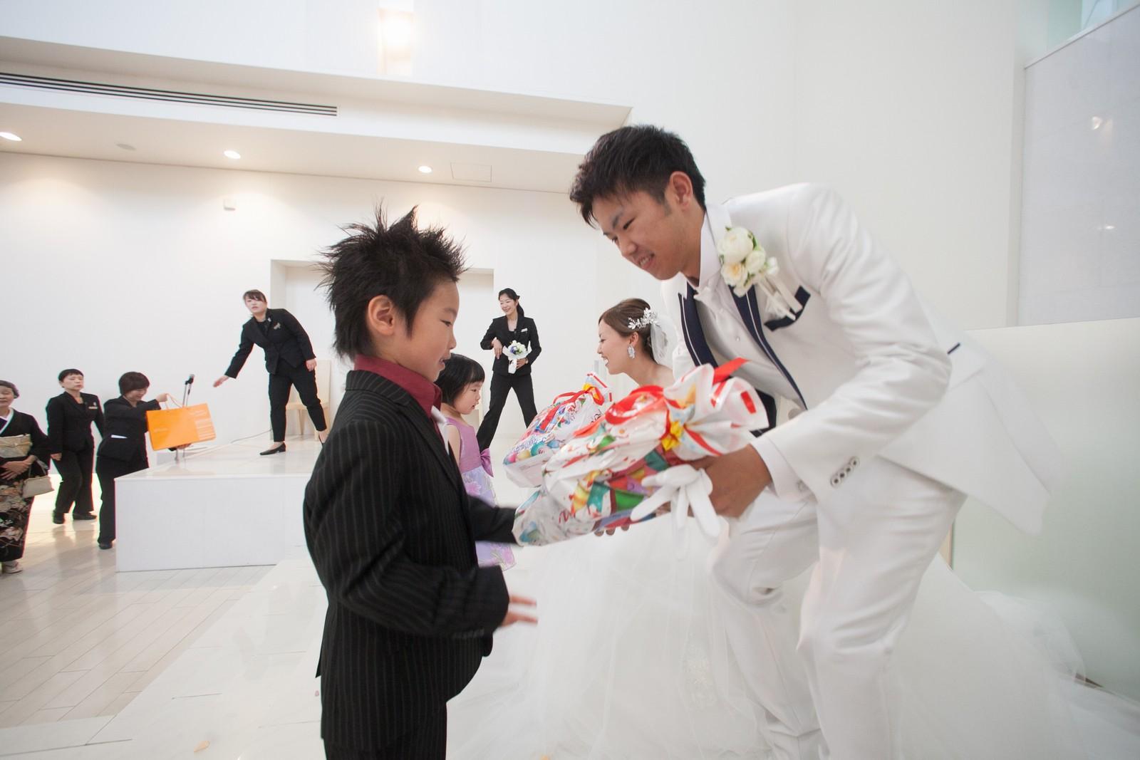 徳島市の結婚式場ブランアンジュでありがとうギフトをプレゼント
