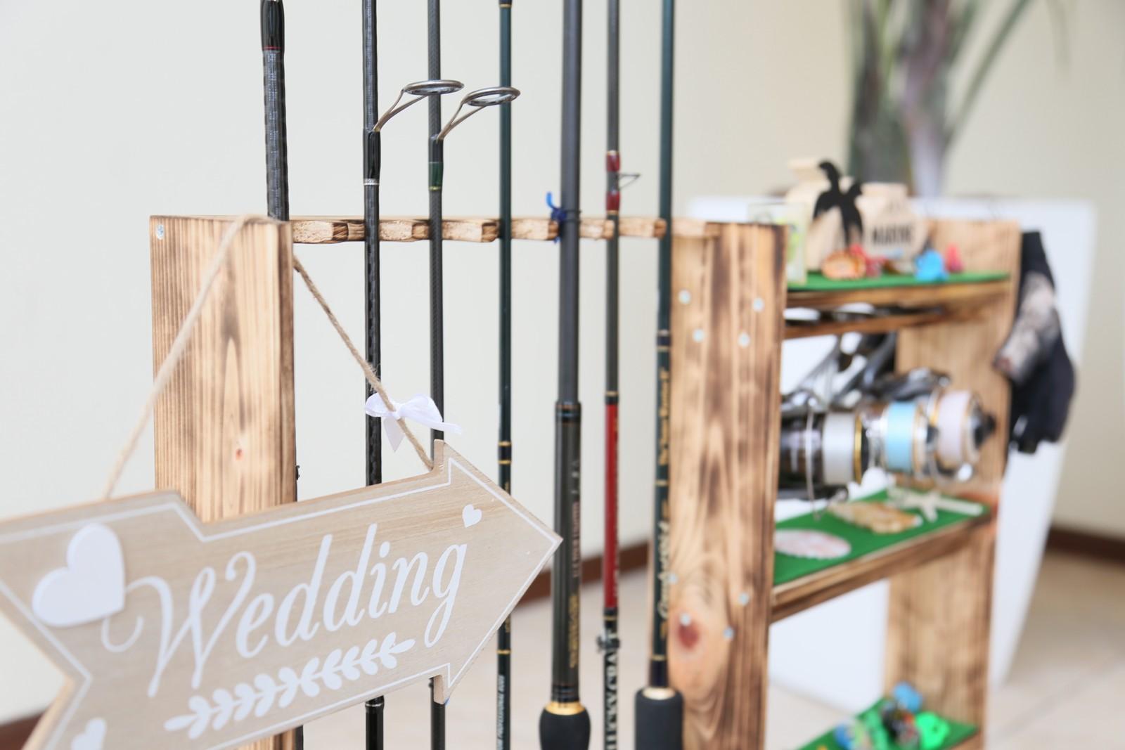 徳島市の結婚式場ブランアンジュで新郎様の趣味の釣りを取り入れたウェルカムグッズ