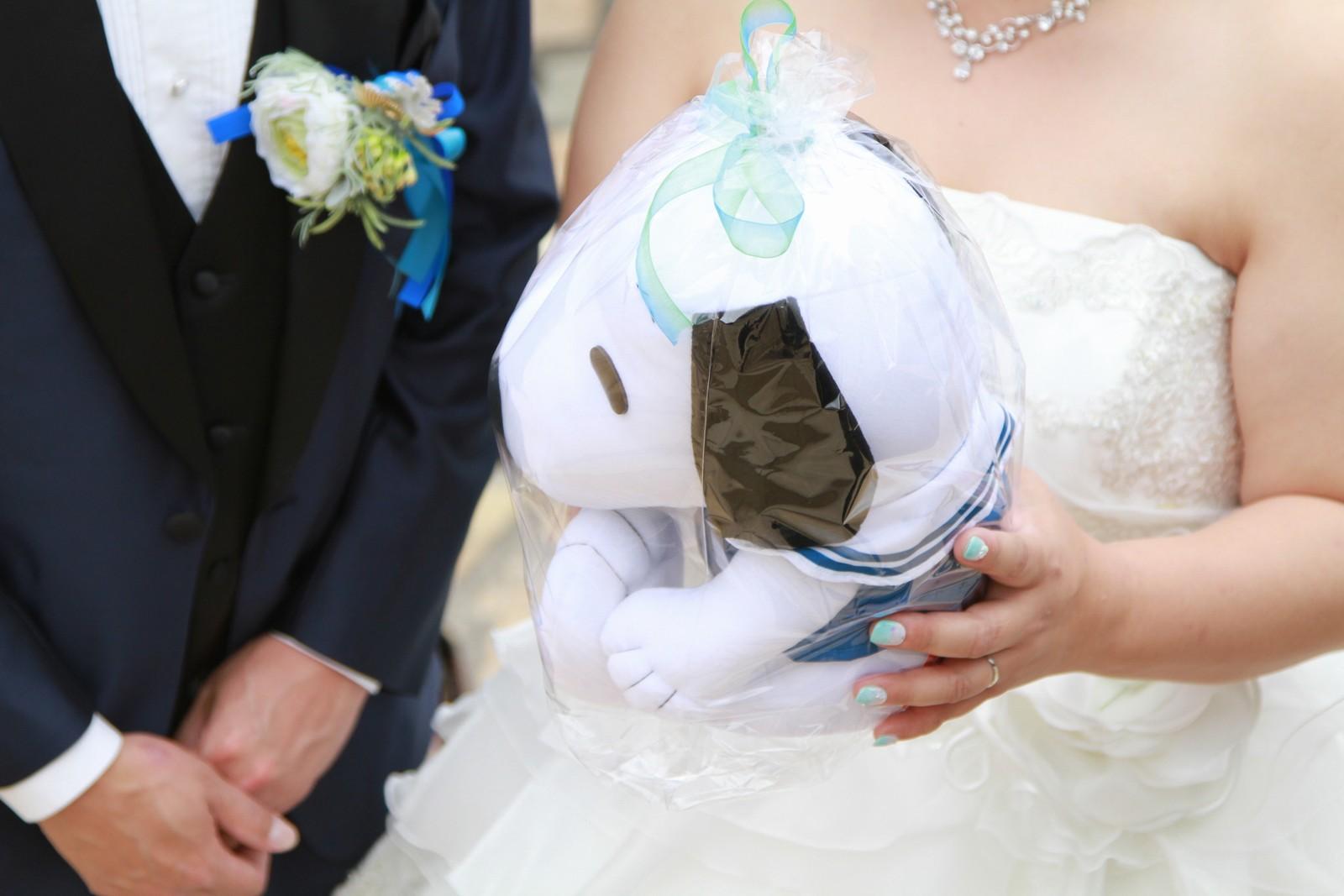 徳島市の結婚式場ブランアンジュのセレモニーでお子様にプレゼント