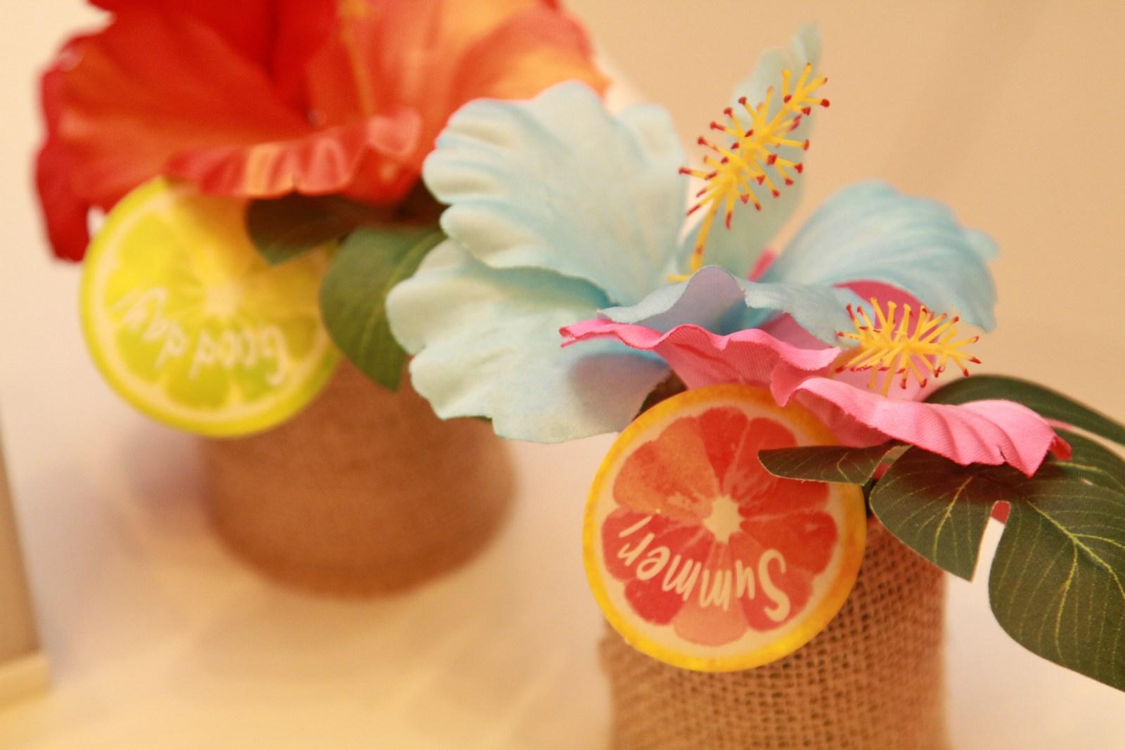 徳島市の結婚式場ブランアンジュで南国をイメージして作られたフルーツのイミテーション