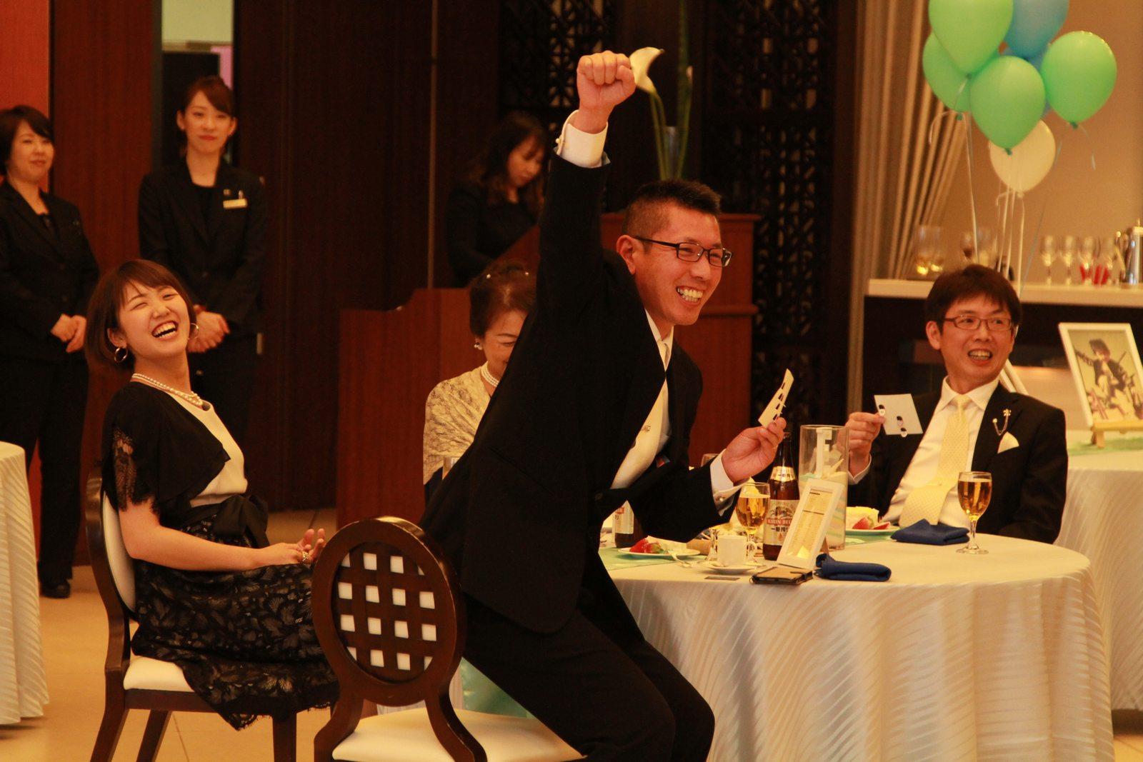 徳島市の結婚式場ブランアンジュでのビンゴゲームがゲストにも大好評