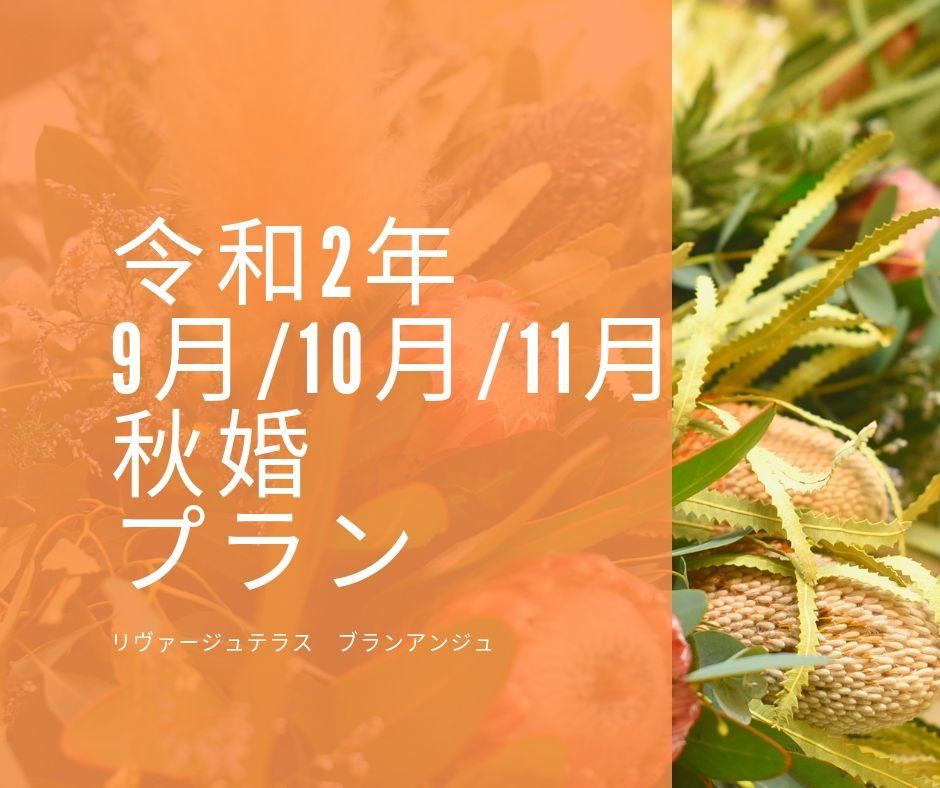 徳島市の結婚式場ブランアンジュの秋婚プラン