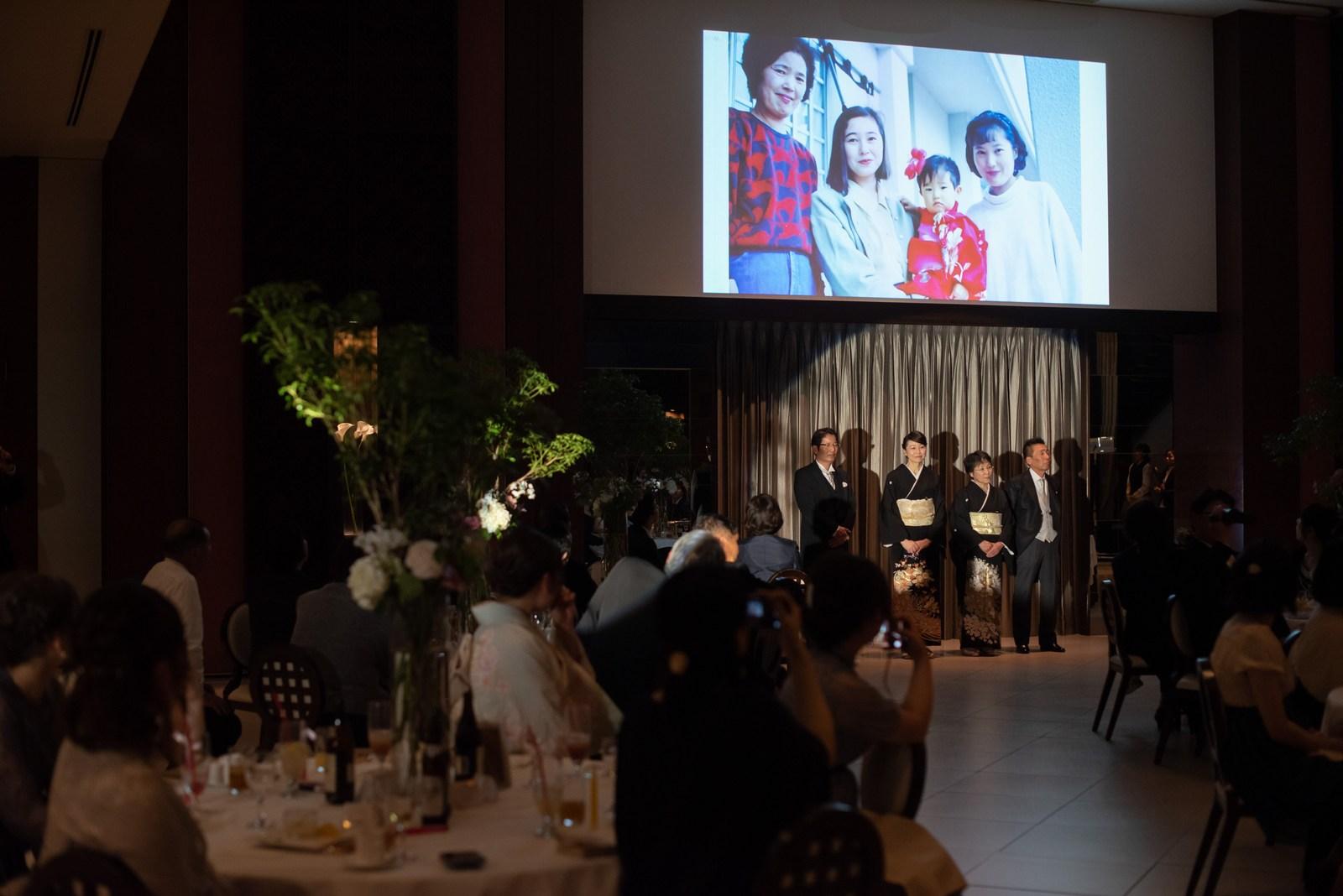 徳島県の結婚式場ブランアンジュで上映された家族の大切な思い出がつまったムービー