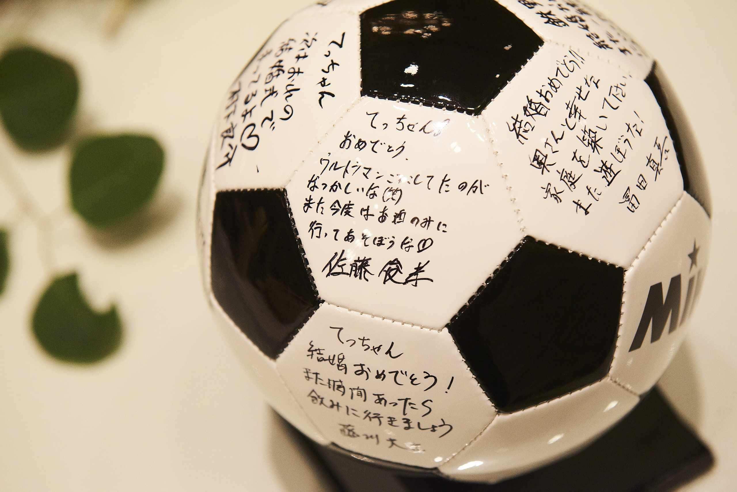 徳島市の結婚式場ブランアンジュで新郎新婦様へ祝福メッセージ入りのボール