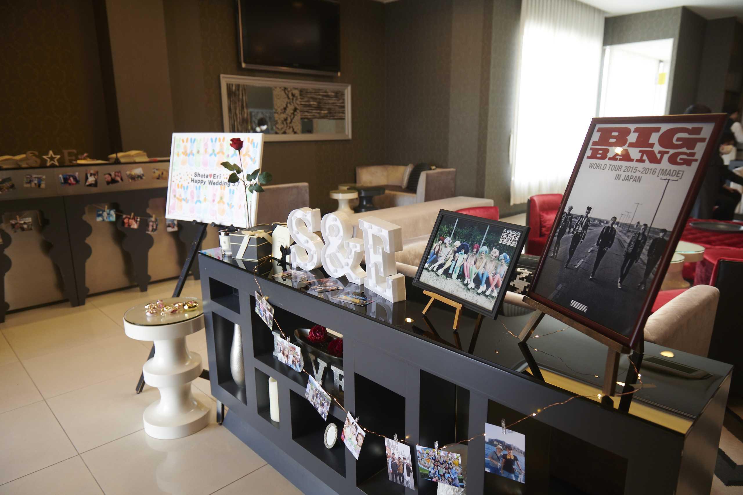徳島市の結婚式場ブランアンジュでウェルカムボード
