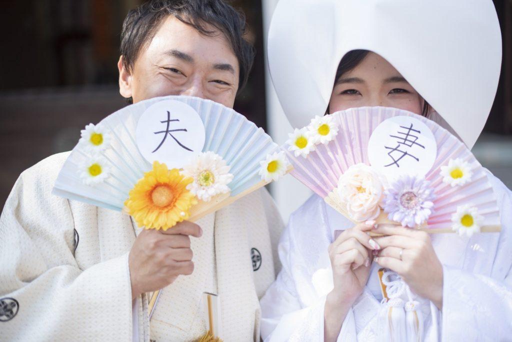 徳島市の結婚式場ブランアンジュで新婦新婦様の和装フォト